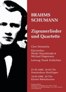 2006 Brahms/Schumann – Zigeunerlieder und Quartette