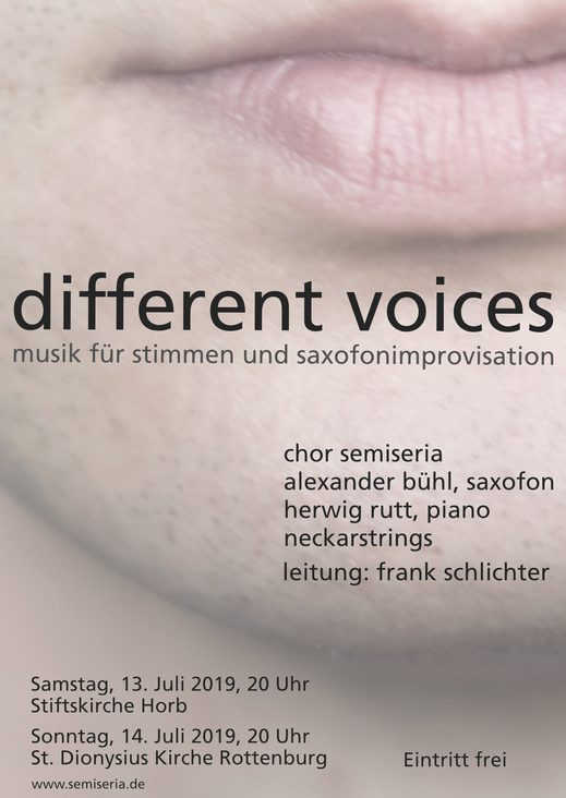 """different voices"" am 13. und 14. Juli"