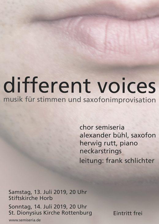 """""""different voices"""" am 13. und 14. Juli"""